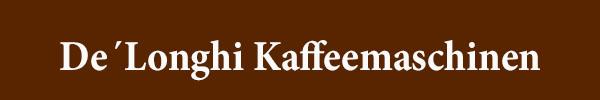 DeLonghi Kaffeemaschinen